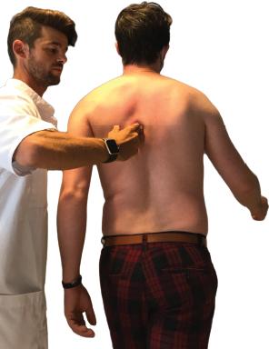 Manipulation dos en orthokinésie ostéopathie